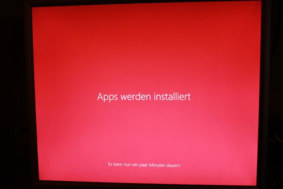 Apps werden installiert