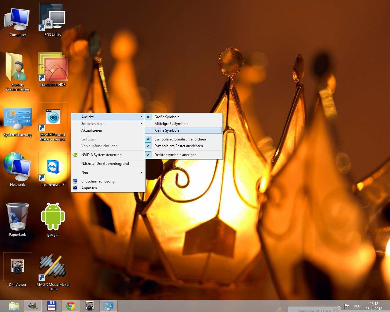 Windows 8 Desktop Symbole Verkleinern Vergrößern Und