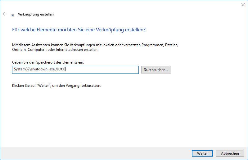 Windows 10 schneller herunterfahren