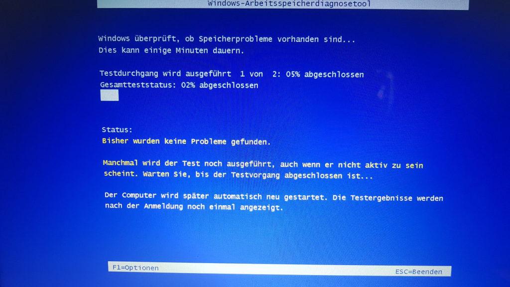 Windows Speicherdiagnose Tool 1